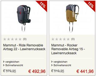 2 top Angebote für Mammut-Lawinenrucksäcke (Symbolbild)