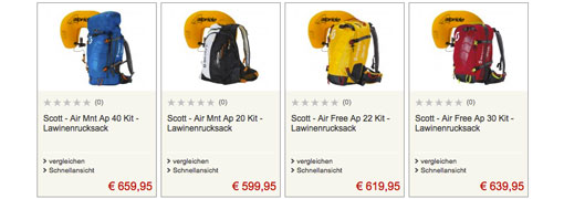 4 top Angebote bei Bergfreunde.de für Scott-Lawinenrucksäcke