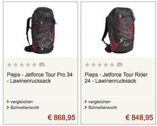 Angebote für Jetforce-Airbags auf Bergfreunde.de
